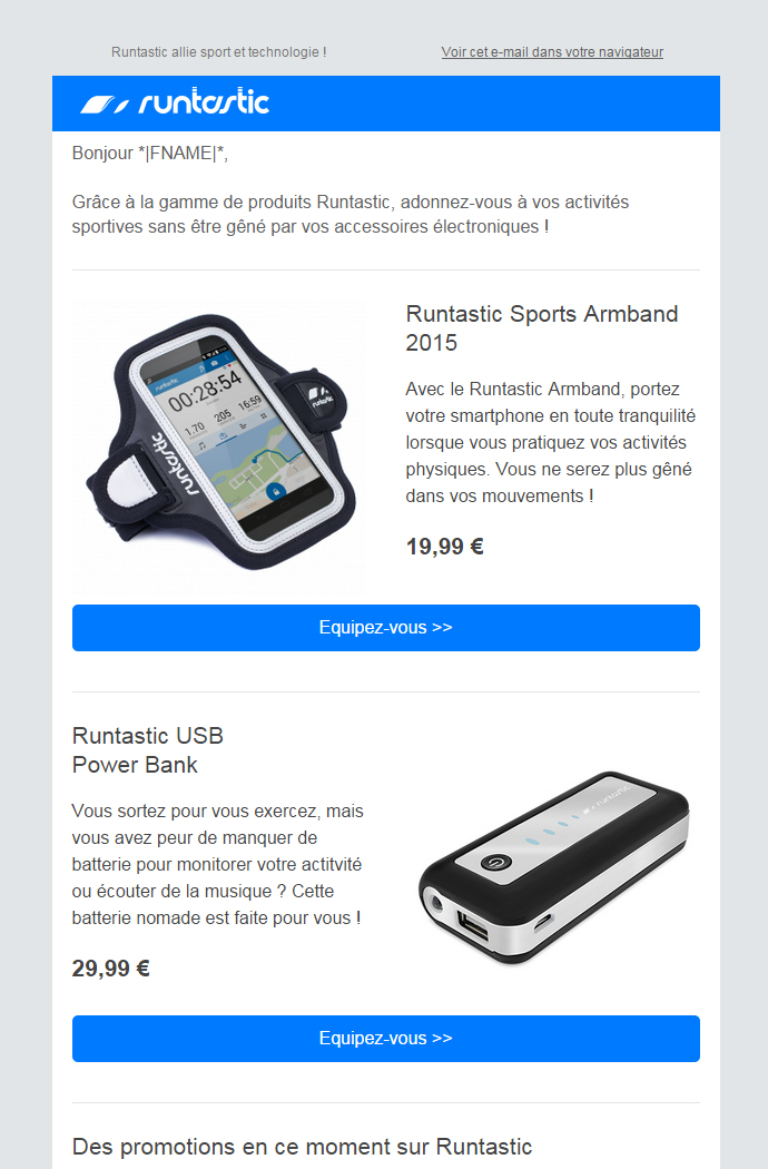Newsletter Runtastic