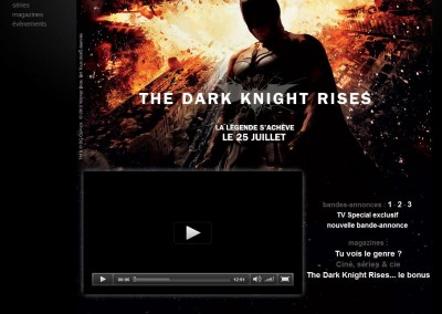 Mock-up for the movie The Dark Knight Rises