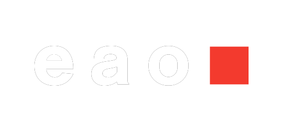 White logo of EAO