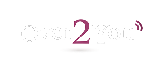White logo of Over2You