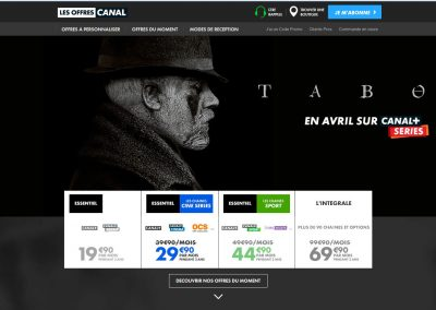 Les Offres Canal website